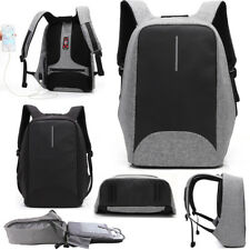 Anti-theft Laptop Notebook Backpack With USB Charging Port School Bag Travel Bag