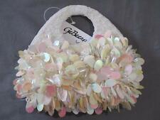 Gorgeous Sequin Evening Purse Clutch Handbag Beaded, Pink, White, Peach and Gold