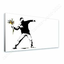 CANVAS (Rolled) Flower Thrower Banksy Canvas For Living Room Oil Paints