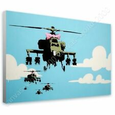 CANVAS (Rolled) Helicopter Apache Banksy Canvas For Home Decor Oil Paint