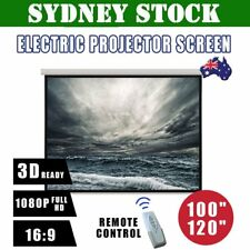 """100"""" 120"""" Inch Projector Screen Portable Electric Motorised TV Projection 3D RR"""
