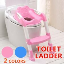 Safety Adjustable Ladder Seat Chair Baby Toddler Kids Potty Training Toilet RO