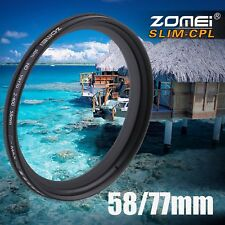 Zomei Adjustable Variable Neutral Density Filter Fader ND2-ND400 58/77mm RL