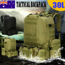 50L 4In1 Tactical Outdoor Molle Assault Military Rucksacks Backpack Camping Bag@