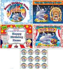 EDIBLE CAKE IMAGE CARNIVAL CIRCUS PARTY ICING SHEET TOPPER OR CUPCAKES BIRTHDAY