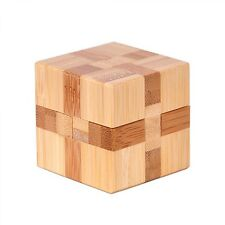 Wooden 3D Puzzles IQ Brain Teaser Interlocking Game Design Educational Toys New