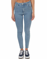 New A.Brand Women's Womens A High Skinny Ankle Basher Cotton Fitted Blue