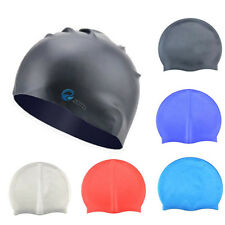Adult Swimming Pool Hat Silicone Swim Cap Waterproof Ear Protective