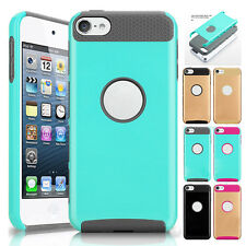 Shockproof Rubber Hard Glossy Plastic Silicone Case Cover for iPod Touch 6 5 Gen