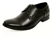 Dobell Boys Black Lace-up Formal Business Wedding Smart 2-Tie Derby Shoes