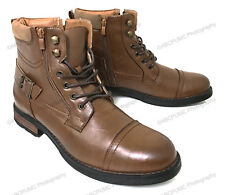NEW Men's Ankle Boots Military Combat Style Side Zipper Lace Up Army Shoes Sizes