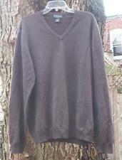 Brooks Brothers Merino Wool Stretch Sweater Brown Long Sleeve Mens XL