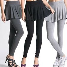 NEW Fashion Lady Skirt Leggings Pleated Stretch free size Footless Pants Slim