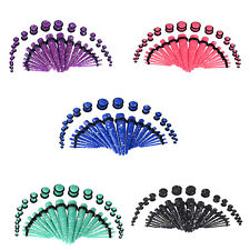 18PCS Ear Plug Tunnel Taper Spot Acrylic Ear Stretcher Gauges Tunnels Colorful