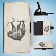 TWO-TOED-SLOTH FLIP WALLET CASE COVER FOR IPHONE 8 PLUS