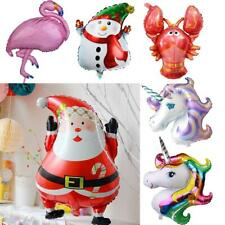Big Rainbow Unicorn Flamingo Santa Aluminum Foil Balloon Kids Birthday Party Toy