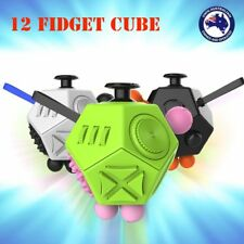12 Side Fidget Cube Adults Stress Relief Anti anxiety Magic Cubes Kid Gift Toy G