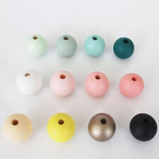 30pcs DIY Art Wooden Round Loose Beads Jewelry Making Loose Spacer Bead 14mm
