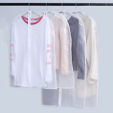 10 Pack Set Clear Suit Jacket Dress Clothes Cover Dust Protector Travel Bag Zip