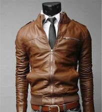 new arrive brand motorcycle leather jackets men,mens PU leather jacket jaqueta d