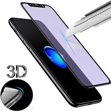 3D Full Coverage Blue Ray Tempered Glass Screen Protector For iphone X 6s 7 8 8+