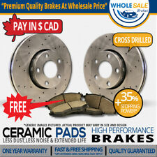 Rear Drill Rotors Ceramic Pads Fit-2009 Land Rover Range Rover Excl.Sport Model