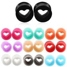 SWANJO 2PCS Silicone Ear Plugs And Tunnels Body ^po0