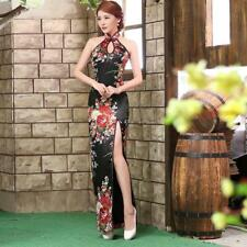 BOOCRE Traditional Chinese Sexy Backless Cheongsam Black ^wb0
