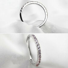Women Fashion Platinum Plating Ring Thin Carved Pattern Finger Jewelry Happy