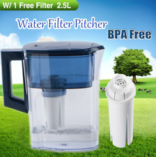2.5L Capacity Water Jug Filtration Pitcher Water Clean Drinking BPA Free Filter