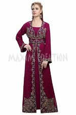 ORIGINAL MODERN ABAYA FANCY JILBAB ARABIAN KAFTAN WEDDING GOWN DRESS 6091