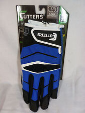 Cutters X40 C-Tack Revolution Football Gloves, Various Sizes, Royal Blue -NEW-