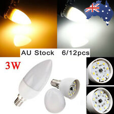 AU 6/12pcs E14 LED Bulb Light 3W Candle Lamp 220V-240V Energy Saving Globe Bulb