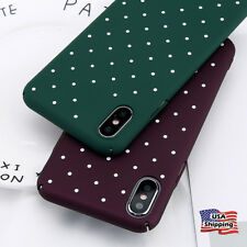 Shockproof Polka Dot Pattern Case Hard Thin Cover For Apple iPhone 8 6s 7 Plus X
