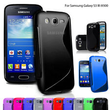 Samsung Galaxy S III 3 i9300 Phone Case Cover S Line Gel Silicone Skin Fitted