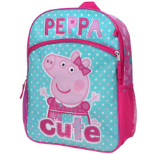 Peppa Pig Girls 5-pc Backpack Lunch Box Accessories Set Multi NEW