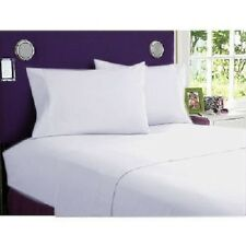AU Bedding Collection All Size 100% Egyptian Cotton 1000 TC White Solid.