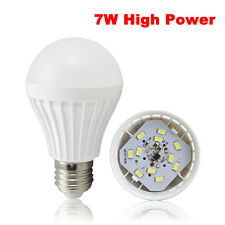 7W LED Light Bulb E27 Edison Screw Warm White Energy Saving Globe AC220V~240V