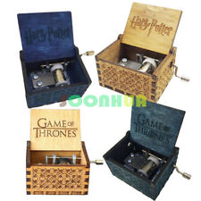 Harry Potter Game of Thrones Engraved Wooden Music Box Interesting Toys Kid Gift
