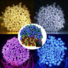 100 200 500 LED Solar Powered Fairy String Lights Garden XMAS Party Waterproof