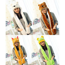 Cartoon Warm Animal Plush FLUFFY Winter Hat Beanie Cap HOODED Fleece
