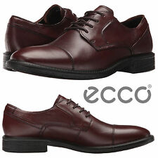 ECCO Knoxville Cap Toe Tie Oxfords Work Comfort Walking Leather Business Shoes