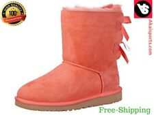 UGG Australia Kids Girl Toddlers Bailey Bow Boots Color Shrimp Fashion Size NeW