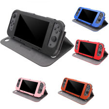 IK- Flip Cover Case Faux Leather Storage Stand Protector for Nintendo Switch Rak