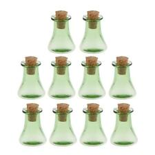 10Pcs Triangle Cork Glass Bottle Wishing Bottle DIY Necklace Pendant Gift