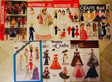 RARE! VTG Designer BARBIE DOLL CLOTHES Sewing Pattern UC/FF ~ YOU PICK!