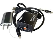 SPDIF Optical Coaxial Toslink Digital to Analog RCA L/R Audio Converter Adapter