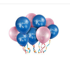 10x Baby Shower Latex Balloons Carriage Printed Gender Reveal Baby Announcement
