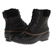 Sorel mens Cheyanne Lace Full Grain waterproof leather winter snow boots Black
