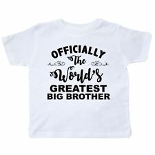 Inktastic Officially The World's Greatest Big Brother Toddler T-Shirt Best Tees.